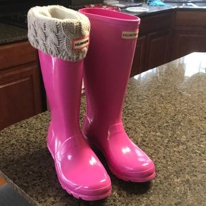 Hunter Boots and boot socks